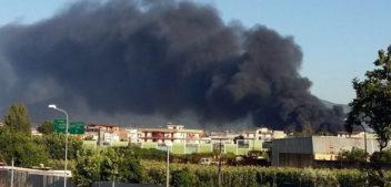 Devastante incendio a Casoria